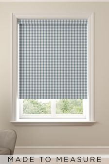 Gingham Blue Made To Measure Roller Blind