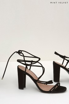 Mint Velvet Tia Black Strappy Heel