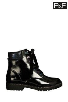 F&F Black Rainbow Work Boots