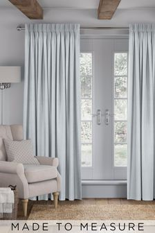 Legna Sky Blue Made To Measure Curtains