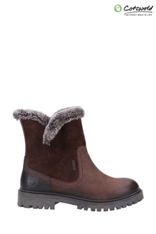 Cotswold Brown Aldestrop Fleece Lined Boots