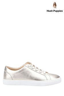 Hush Puppies Gold Tessa Lace Trainers