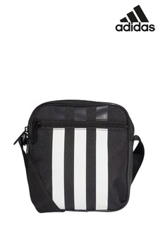 adidas Black 3 Stripe Small Item Bag