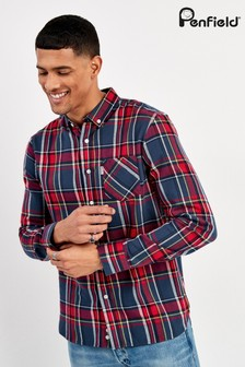 Penfield Navy/Red Barrhead Check Shirt