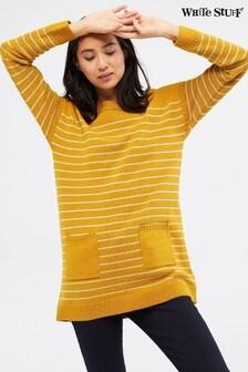 White Stuff Yellow Latitude Stripe Pocket Tunic