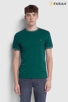 Farah Green Groves Ringer T-Shirt