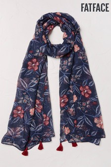 FatFace Blue Night Sky Floral Scarf