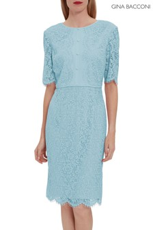 Gina Bacconi Gabby Button Bodice Lace Dress