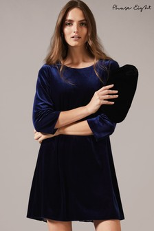 Phase Eight Blue Velvet Pia Dress