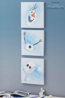 Súprava 3 obrazov s motívom Olafa z rozprávky Ľadové kráľovstvo 2 od Disney™