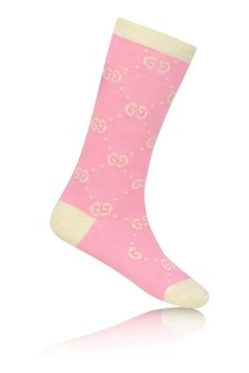 Pink/Ivory GG Cotton Socks