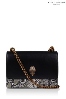 Kurt Geiger London Black Shoreditch Cross Body Print Bag