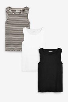 3 Pack Stripe Vests (3-16yrs)