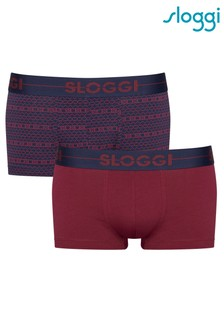 Sloggi Red Men Go Holiday Hipsters Two Pack