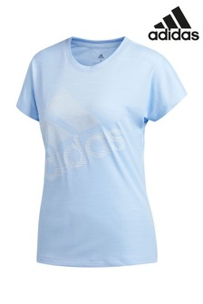 Синяя футболка adidas Badge Of Sport