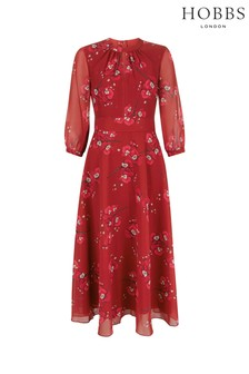 Hobbs Red Samantha Dress