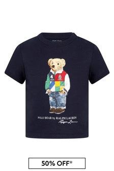Ralph Lauren Kids Baby Boys Navy Cotton T-Shirt