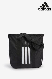 adidas Black 3 Stripe Tote Bag