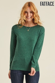 FatFace Green Zoe Jumper