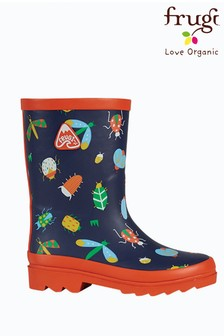 Frugi Navy Bugs Welly Boots