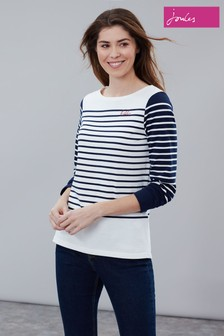 Joules Harbour Embroidered Long Sleeve Jersey Top