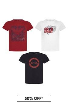 Emporio Armani Boys Navy Boys T-Shirt Set