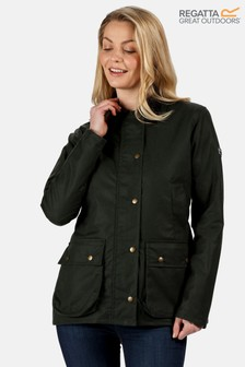 Regatta Green Lady Country Wax Jacket