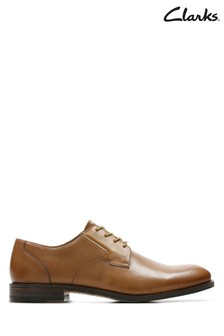 Clarks Tan Edward Plain Shoe