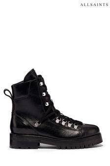 AllSaints Black Franka Ankle Calf Boots