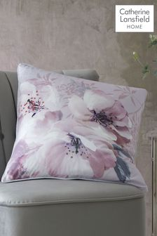 Catherine Lansfield Grey Dramatic Floral Cushion