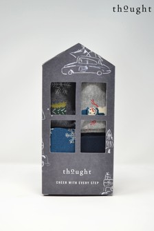 Thought Grey Edmund Sock Gift Box Four Pack