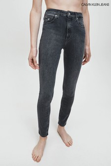Calvin Klein Jeans Grey Ckj 010 High Rise Skinny Jeans