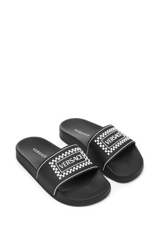 Kids Black Logo Sliders