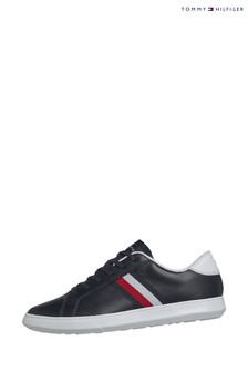 Tommy Hilfiger Blue Essential Leather Global Stripe Trainers