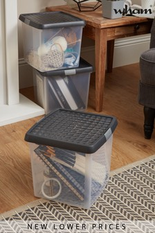 Set of 3 Clip 14L Boxes by Wham