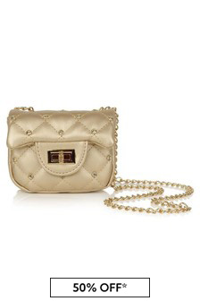 Girls Gold Studded Shoulder Bag