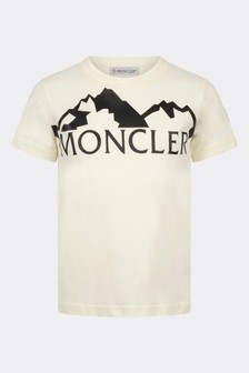 Boys Ivory Cotton Logo T-Shirt