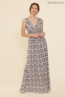 Gina Bacconi Pink Kellina Geometric Maxi Dress