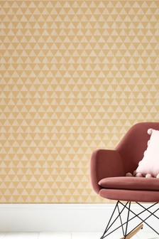Paste The Paper Ochre Triangles Wallpaper