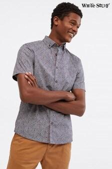 White Stuff Shibori Gemustertes Hemd, Blau