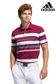 adidas Golf Engineered Berry Stripe Poloshirt