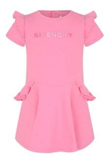 Baby Girls Pink Cotton Jersey Dress