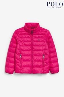 Ralph Lauren Pink Logo Padded Jacket