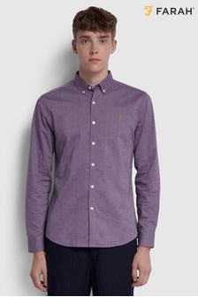 Farah Slim Fit Brushed Cotton Steen Shirt
