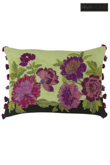 Riva Home Green Fiori Floral Cushion