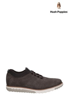 Hush Puppies Black Expert Knit Oxford Lace-Up Trainers