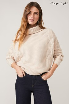 Phase Eight Brown Cataleya Cable Knit Top