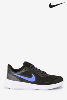 Nike Navy Glitter Revolution 5 Youth Trainers