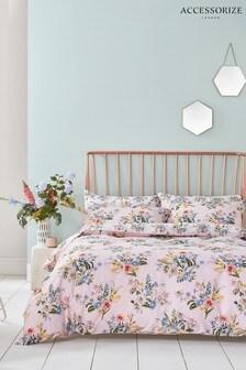 Accessorize Vintage Bloom Floral Cotton Duvet Cover and Pillowcase Set