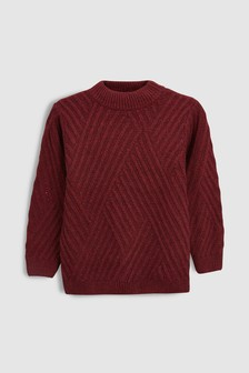 Diamond Rib Knitted Crew (3-16yrs)